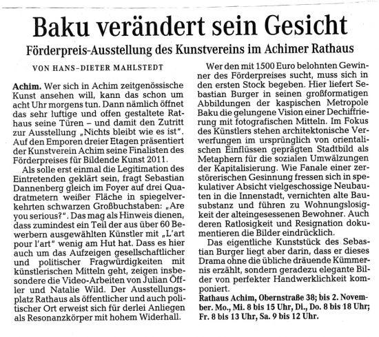 2011_10_11_Weser-Kurier_Kulturseite