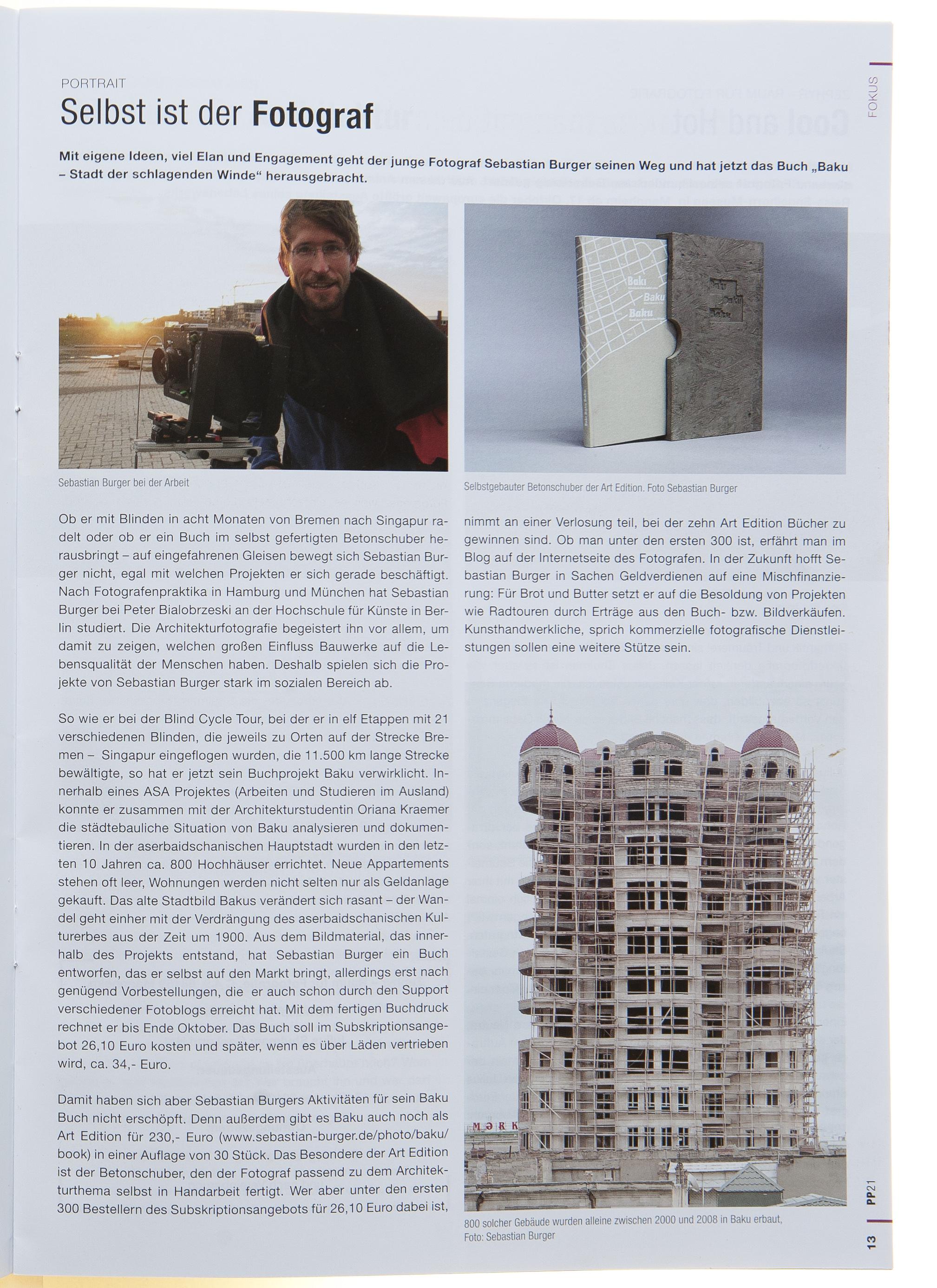 Photo Presse vom 14. Oktober 2010 über den Buchfinanzierungsprozeß