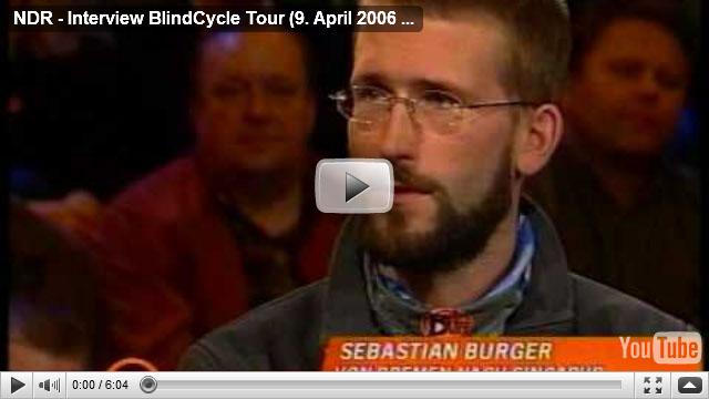 NDR, Sportclub Live Feature vom 6. April 2006, BlindCycle Tour
